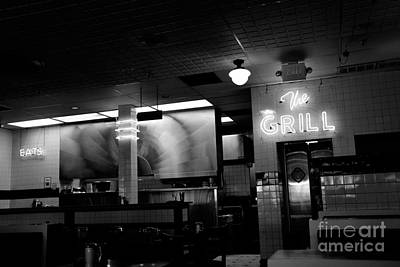 Retro Diner In Athens, Georgia -black And White Poster