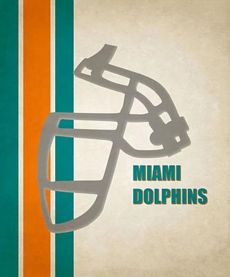 Retro Dolphins Art Poster by Joe Hamilton