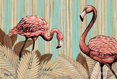 Retro Flamingo Poster by Paul Brent
