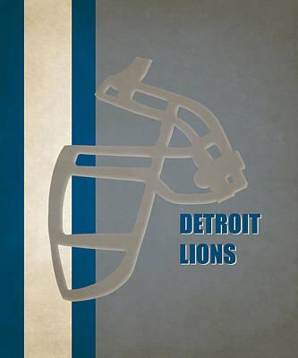 Retro Lions Art Poster by Joe Hamilton