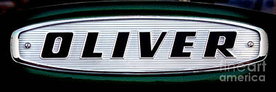 Retro Oliver Tractor Nameplate  Poster