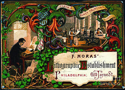 Poster featuring the photograph Retro Printing Ad 1867 by Padre Art