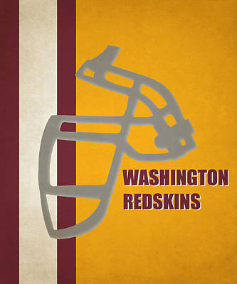 Retro Redskins Art Poster