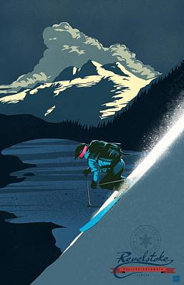 Retro Revelstoke Ski Poster Poster