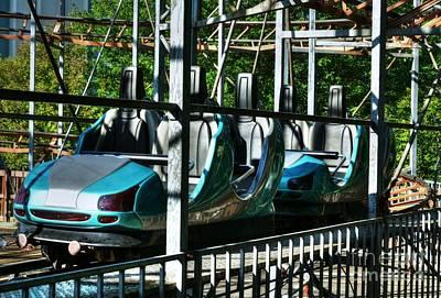 Retro Roller Coaster Poster by Mel Steinhauer