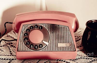 Retro Rotary Dial Phone Sepia Toned  Poster