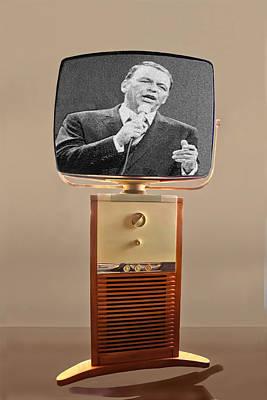 Retro Sinatra On Tv Poster