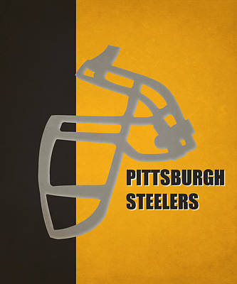 Retro Steelers Art Poster by Joe Hamilton