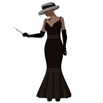 Retro Style Dress Poster