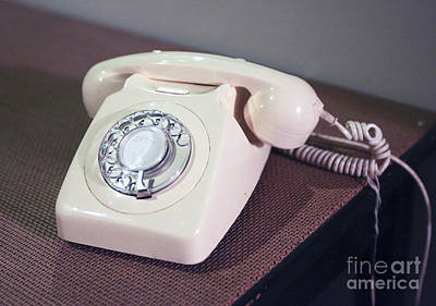 Retro Telephone Poster by Patricia Hofmeester