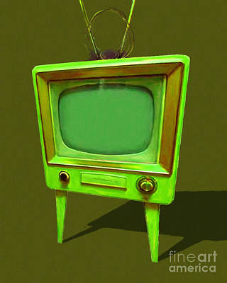 Retro Television With Rabbit Ears 20150905 Yp45 Poster