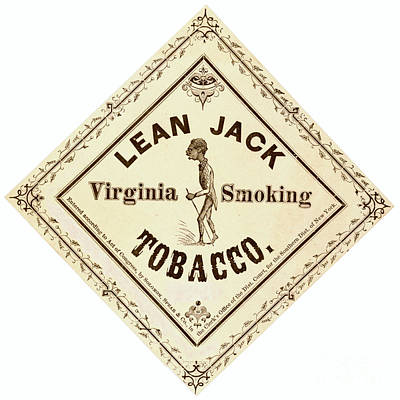 Poster featuring the photograph Retro Tobacco Label 1867 A by Padre Art