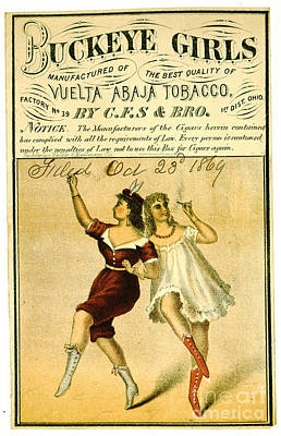 Poster featuring the photograph Retro Tobacco Label 1869 F by Padre Art