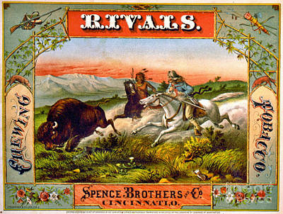 Poster featuring the photograph Retro Tobacco Label 1872 D by Padre Art