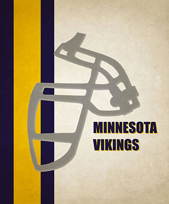 Retro Vikings Art Poster by Joe Hamilton