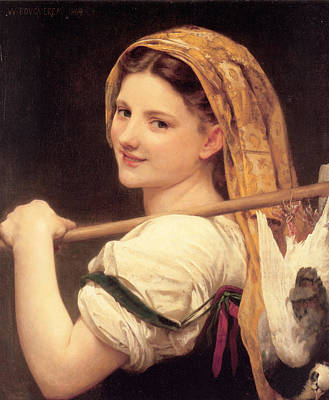 Return From The Market Poster by William Bouguereau