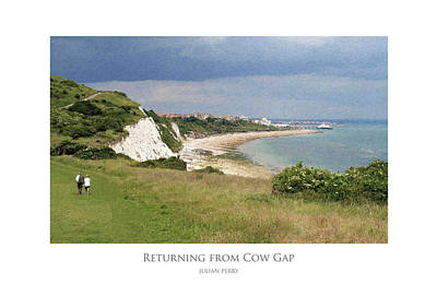 Poster featuring the digital art Returning From Cow Gap by Julian Perry