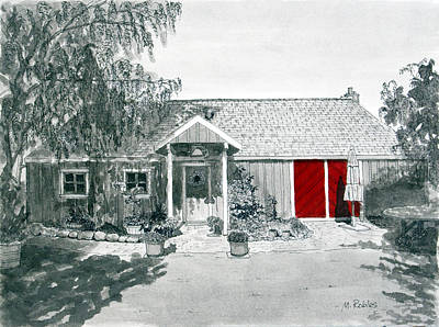 Retzlaff Winery With Red Door No. 2 Poster