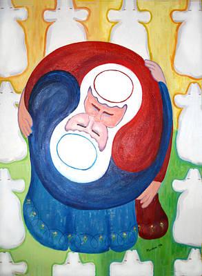 Reunion Jacob And Essau  Poster by Mordecai Colodner