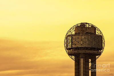 Reunion Tower At Sunrise Poster by Imagery by Charly