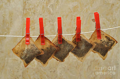 Reuse The Tea Bags Poster by Louise Heusinkveld