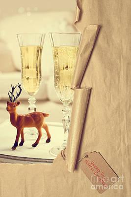 Revealing Christmas Champagne Poster by Amanda Elwell