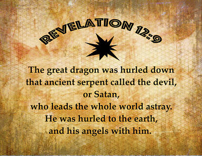 Revelation 12 Great Dragon Poster by Robert Frank Gabriel