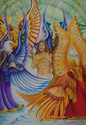 Poster featuring the painting Revelation Five by Rick Ahlvers