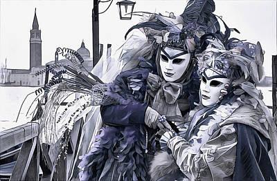 Revelry In Venice Poster