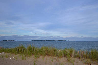 Revere Beach Wooden Fence Bird Sanctuary Poster by Toby McGuire
