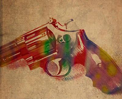 Revolver Watercolor Art Number 1 Poster