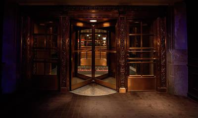 Revolving Door Entrance To Michael Jordan Steak House - Chicago Poster
