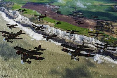 Rfc Se5 Deploys Tp Frane 1917 - Oil Poster