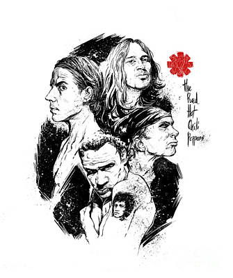 Rhcp Poster by Boonarit Chanin