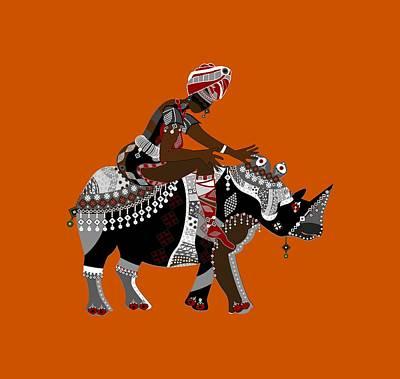 Rhinoceros Poster by Yuliya Konyayeva