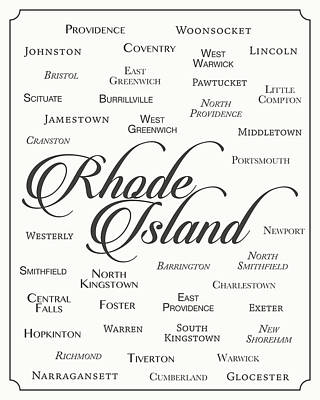 Rhode Island Poster by Finlay McNevin