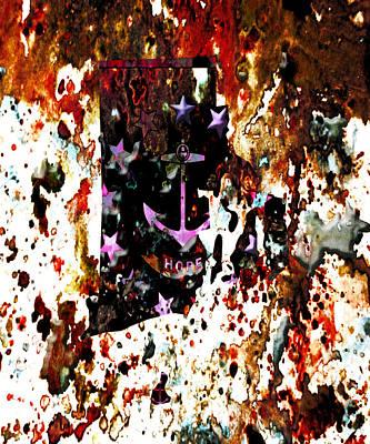 Rhode Island Paint Splatter Poster by Brian Reaves