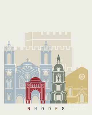 Rhodes Skyline Poster Poster