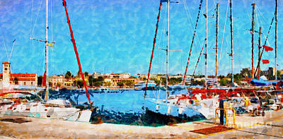 Rhodes View From Fort Side Poster by Magomed Magomedagaev