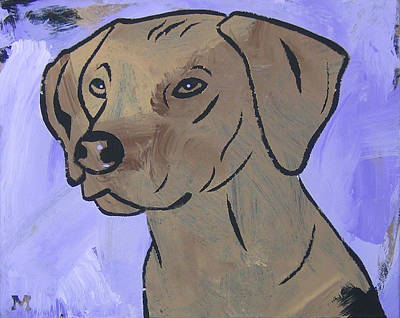 Poster featuring the painting Rhodesian Ridgeback by Candace Shrope