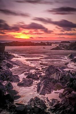 Rhosneigr Beach At Sunset Poster