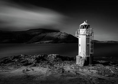Rhue Lighthouse Poster by Dave Bowman