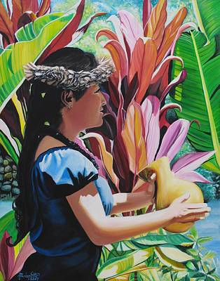 Rhythm Of The Hula Poster by Marionette Taboniar