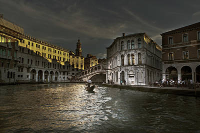 Poster featuring the photograph Rialto Bridge Venice by John Hix