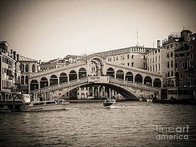 Rialto Venice . Italy Poster