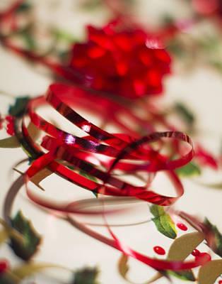 Ribbon Curls Poster by Rebecca Cozart