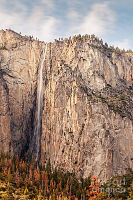Ribbon Falls At Yosemite National Park - Sierra Nevada Mountains California Poster by Silvio Ligutti