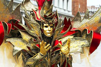 Ribbon Man 2015 Carnevale Di Venezia Italia Poster by Sally Rockefeller