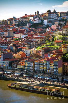 Ribeira Of Oporto Poster by Carlos Caetano