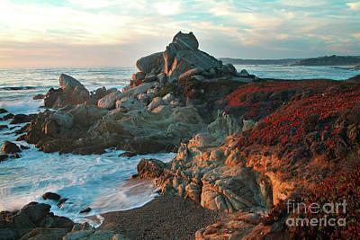 Ribera Beach Sunset Carmel California Poster